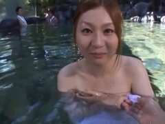 Yui Tatsumi Asian babe has sex outdoors