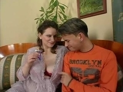 Mom with giant saggy boobs & guy