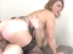 Big tits milf titty fuck and cum on tits