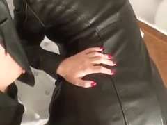 CUM ON LEATHER BUTTS