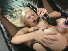 Hot French Girl Fucked Hard By Machines in Her Pussy and Ass