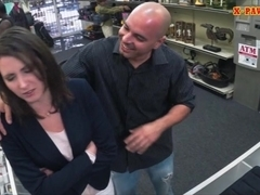 Customers wife pounded by nasty pawn man at the pawnshop