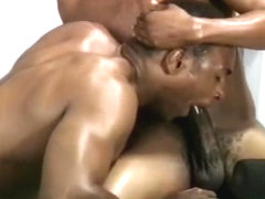 Hunky Gay Black Musclemen Fuck on Bench