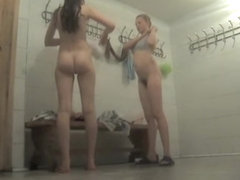 Dressing room voyeur cam spying even two gorgeous amateurs