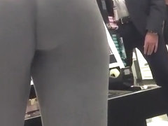 Nice butt chick in gray leggings