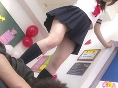 Incredible Japanese girl Aya Miyazaki in Horny college, foot job JAV video