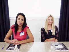 Lena Paul, Riley Star, Vienna Black In Dildo Focus Group Starts Threesome