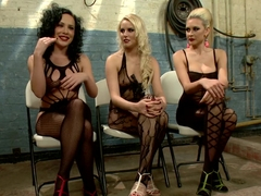 Fabulous fetish porn video with amazing pornstars Vanessa Cage, Katie St. Ives and Chris Johnson f.