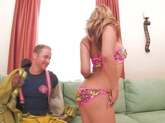 Fabulous pornstar Sarah Vandella in crazy cunnilingus, blonde xxx video