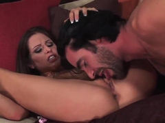Sexual busty Rachel Roxxx is licked & banged