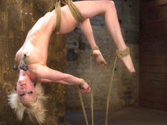 Hot Blond Suffers Though A Brutal Category 5 Inverted Suspension.How Many Orgasms Can She Take?  -.