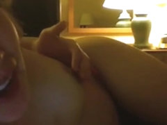 Allison reads a cuck story while her fuck buddy prepares to mount her