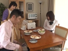 Lovely Japanese schoolgirl Koharu Aoi drilled doggystyle