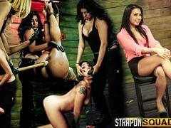 Isa Mendez Still in her BDSM Strapon Training Session with Mila Blaze & Lexy Villa - StrapOnSquad