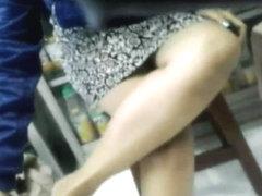Black Panty Upskirt at Ban Tjie Tong, Surabaya, Indonesia