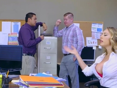 Kagney Linn Karter getting rough pounding on office desk