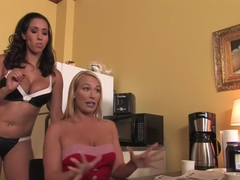 Amazing fetish, lesbian adult movie with fabulous pornstars Mellanie Monroe and Isis Love from Whippedass