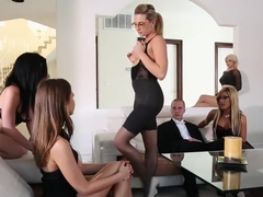 Crazy pornstars Riley Reid, Holly Taylor and Dahlia Sky in fabulous group sex, blowjob porn video