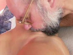 Old fart is having wild sex with Sunny Diamond