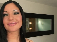 Dazzling whore Angelica Heart having to please two big cocks