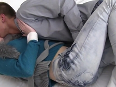 Freckled teen Alice suck and ride cock