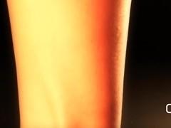 Darla TV - Dangling High Heel Mules & Sexy Red Toes
