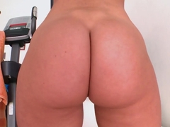 Tall white girl Angelica Saige with a huge ass