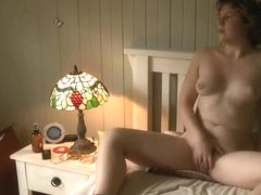 Rough masturbation caught on hidden cam