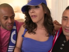 Amazing pornstar in crazy gangbang, interracial sex video