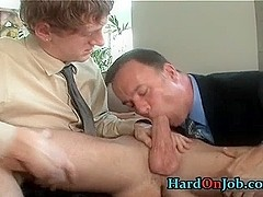 Horny gay threesome rimming part2