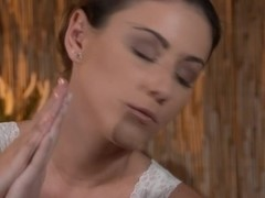 glamourous lesbo rubdown with oiled up beauties
