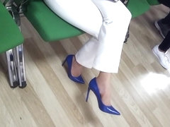 Mature fr sexy high heels dangling stilettos