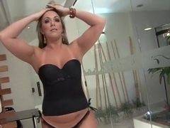 Allesandra Maia reamed in her pussy and ass