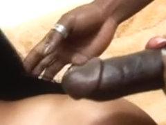 Curvy ebony bitches banged in all holes