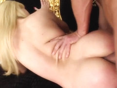 Acrobatic Lia gets ass fucked and double penetrated.