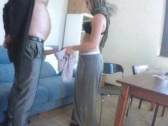 Jobless woman licks on dudes ass