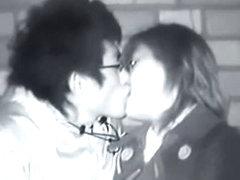 Amateur japanese couple fuck in public