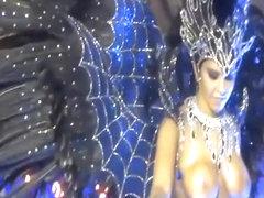 Hot Brazilian girls in carnival costumes