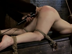 Girl next door bound ass up. Double penetratedSkull fucked & caned, vibrated 2 multiple orgasms