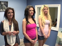 Making the Banging Audition with three defiant babes