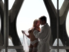 Tasha Reign begins her day with gentle light of morning sex