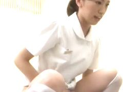 Crazy Japanese chick Yuuha Sakai, Yuri Kashiwaga, Ami Morikawa in Fabulous Handjobs, Stockings/Pan.