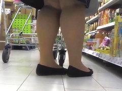 Tights Ballerinas in the Supermarket