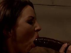 Mandy Bright do dildo injection to a hot babe
