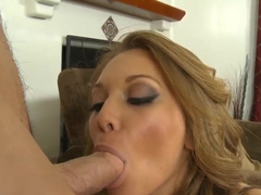 Adriana Leigh with great passion sucks big dick of Johnny Castle
