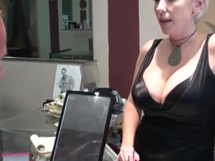 Mature lady in black laces demands to come and fuck her