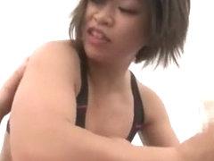 Hottest Japanese whore Saki Hanma in Crazy Handjobs, Hardcore JAV movie