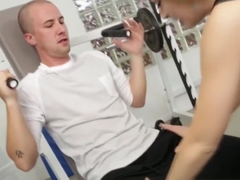Kinky Kagney Lynn Karter horny at the gym for his erection