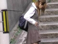 Stunning schoolgirl loses her sexy skirt during wicked sharking adventure