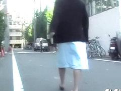 Amorous tall vixen having sharking encounter during nice long walk
